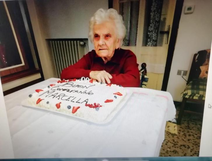 100 candeline per la signora Marcellina