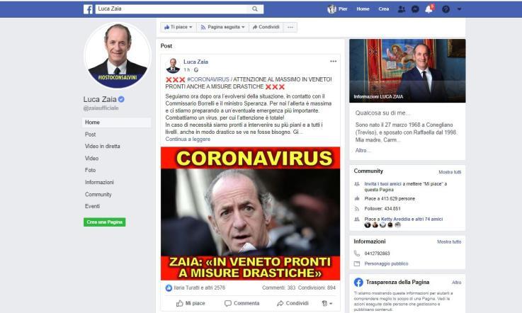 Coronavirus, primi due contagi in Veneto. Zaia: