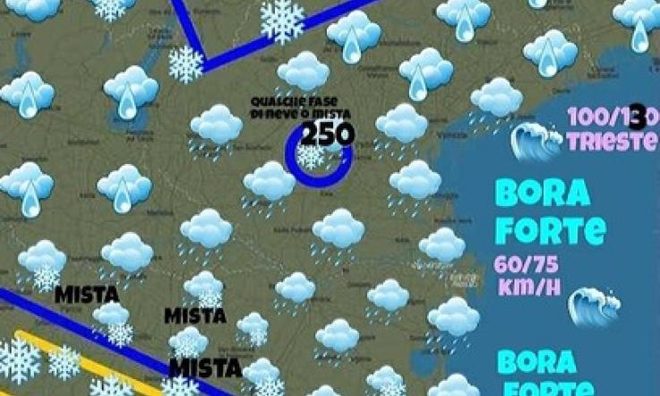 0b447ddfb4 Bora e pioggia, ma è solo un assaggio del colpo di coda dell'inverno ...