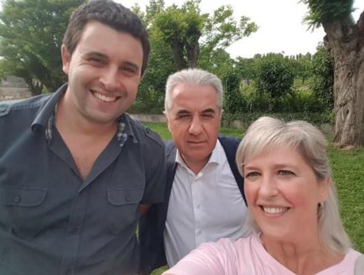 Il Consigliere Comunale Loris Tietto e l'Assessore Francesca Zeggio con il Sindaco Luigi Viaro